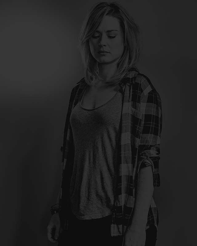 """Alexandra Breckinridge as Jessie Anderson in """"The Walking Dead"""": Season Six."""