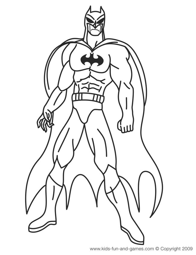 batman coloring pages courtesy of kids games central - Kid Colouring Games