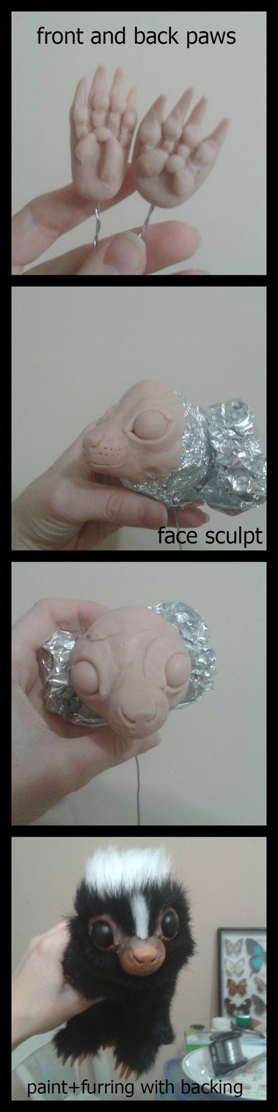 Baby Skunk Sculpt - WIP / Tutorial Creature by RikerCreatures on DeviantArt