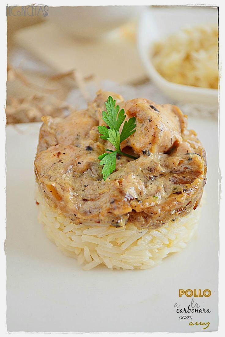 DECORECETAS: Pollo a la carbonara con arroz