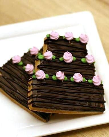 Tiered wedding cake~ By Four seasons hotel, #, chocolate, pink rosebud