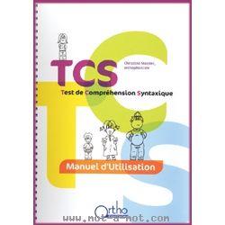 TCS - Test de Compréhension Syntaxique