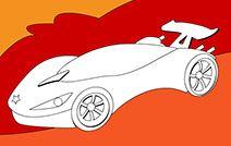 Jogos de pintar e colorir online para crianças: Carro fantástico