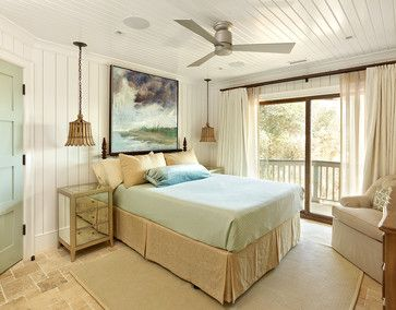 Ceiling fan, lights--Diodia Court Spring 2014 - beach-style - Bedroom - Charleston - R.M. Buck Builders