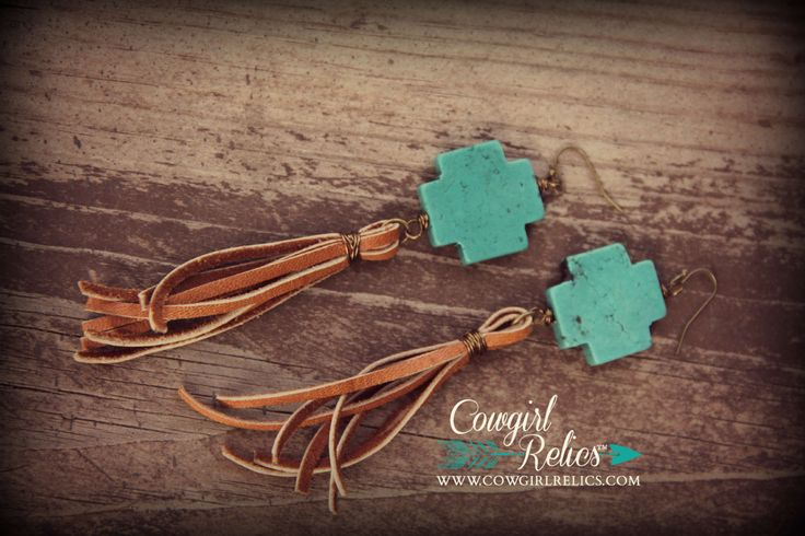 Rustic Western Earrings Western Chic by cowgirlrelicsdesigns