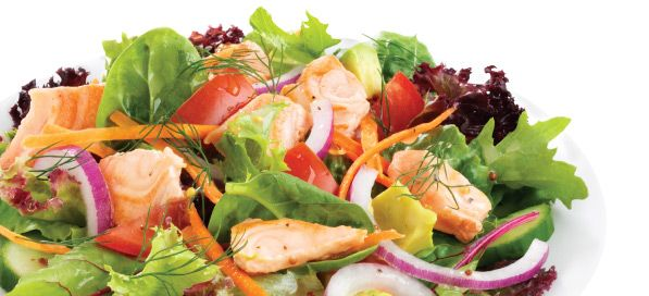 Nutrition Melbourne Weight Loss Program Dietitian Tip: Small sized Tasmanian Salmon Salad undder 1000kJ per serve. http://nutritionmelbourne.com.au/weight-loss-programs/
