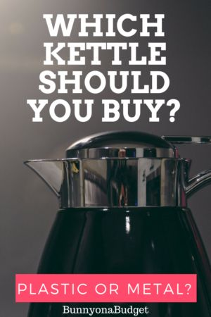 I share my experience of owning both a metal and a plastic kettle to help you decide which one is right for you!  There are so many different options to choose from when shopping for a kettle nowadays, such as deciding between an electrical or a stove top kettle or choosing between a modern, retro or heritage look. However, I think that the hardest choice to make is whether to buy a metal kettle or a plastic kettle.