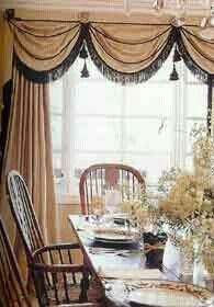 Swag on pinterest for International decor window treatments