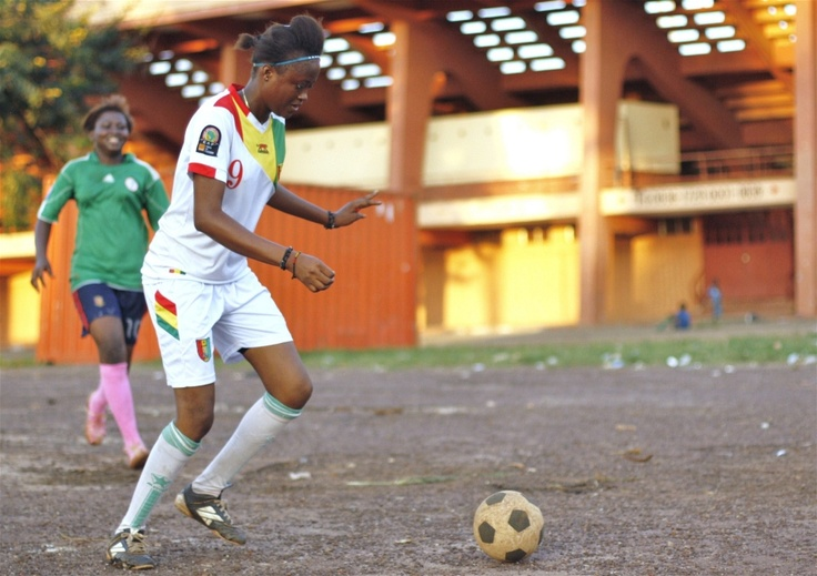 Women play football on the 28 September Stadium grounds. These days, the venue is again used for sporting events