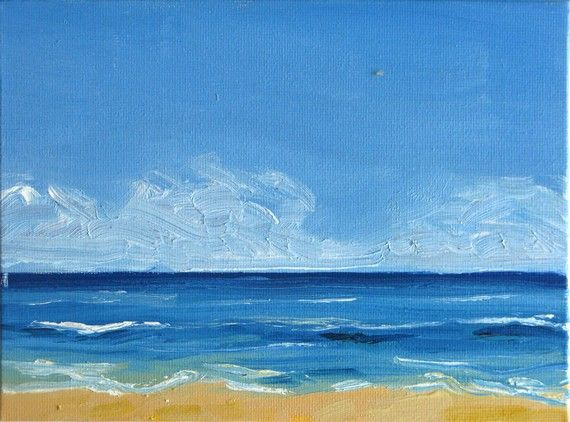 Seascape Six An Original Oil Painting On Canvas Board 8 X 6 Inches Via Etsy Art Pinterest And Paintings