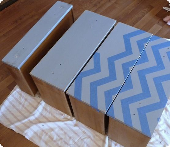Chevron Dresser Makeover  @ScotchBlue Painter's Tape