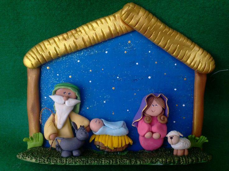 Pesebre/ nacimiento navidad masa flexible, polymer clay, clay, fimo,pasta flexible, pasta francesa hecho en Venezuela