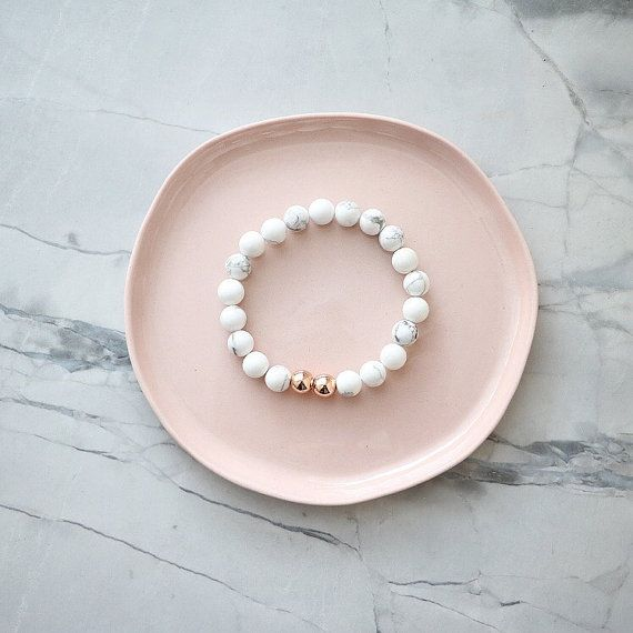 Aura Bracelet  Marble & Rose Gold