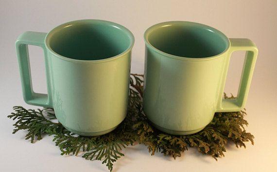 Mint Melamine Mug Set