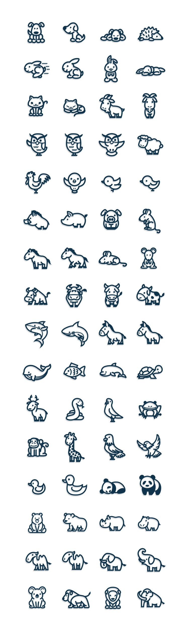 Vectorial Animals on Behance