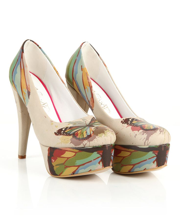 Take a look at this Goby Blue & Black Butterfly Platform Pump today!
