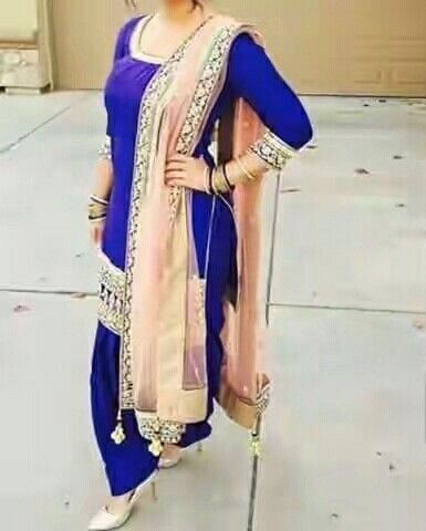 Patiala suit in royal blue