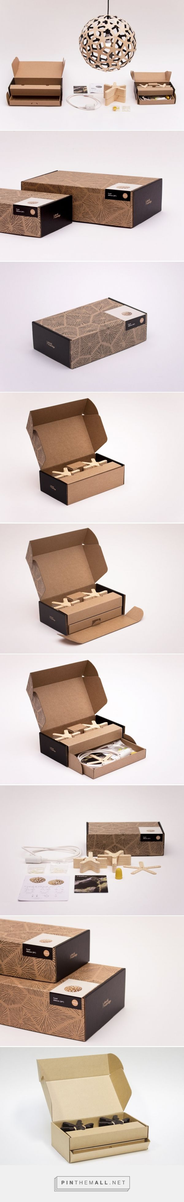 David Trubridge Lighting structural packaging design by Think Packaging - http://www.packagingoftheworld.com/2017/10/david-trubridge-lighting.html