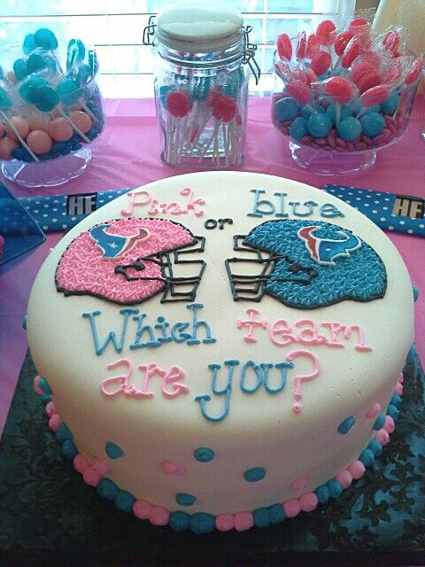 Houston Texans cake for gender reveal party