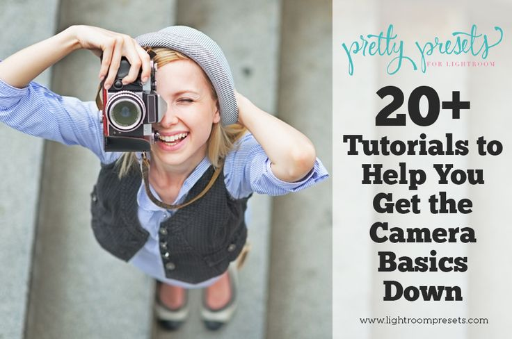 20+ Photography Tutorials to Help You Learn the Camera Basics. Sometimes knowing where to begin with your camera is the hardest part. We all have to start somewhere and this post is definitely the place to start! http://www.lightroompresets.com/blogs/pretty-presets-blog/16974140-20-photography-tutorials-to-help-you-learn-the-camera-basics