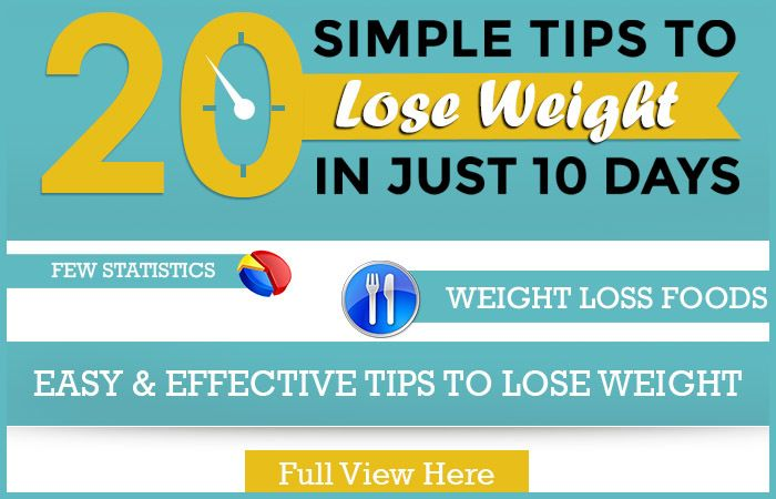 25 Simple Tips To Lose Weight In Just 10 Days - Worked For Me