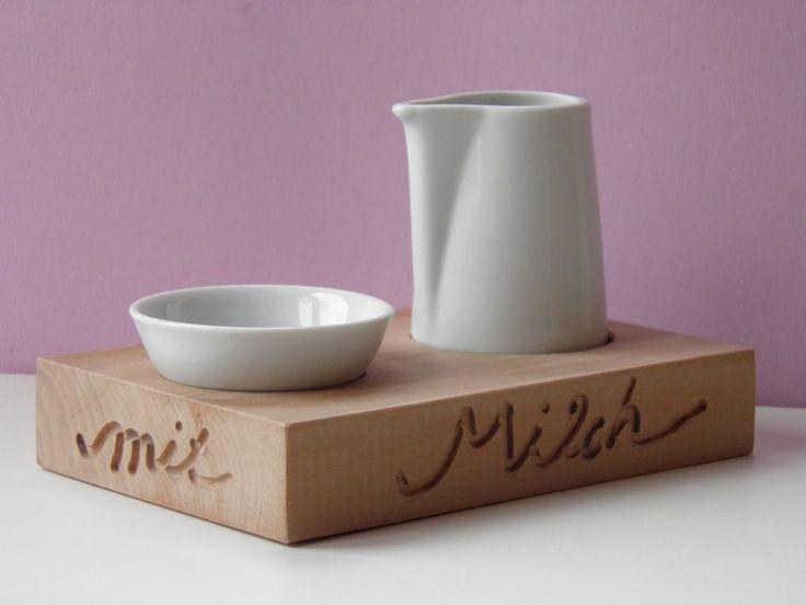 Minitablett, *Milch und Zucker*, Kaffeehaus, Café von kleiner-holzladen auf DaWanda.com