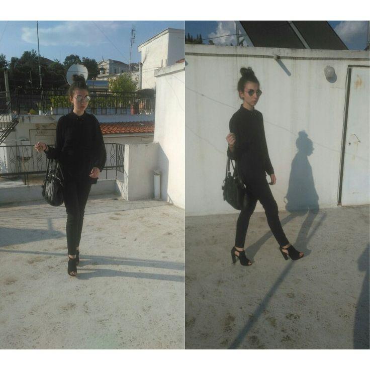 Shirt @h&m leggings@berska heels@h&m purse@stradivarius sunglasses @stellamccartney