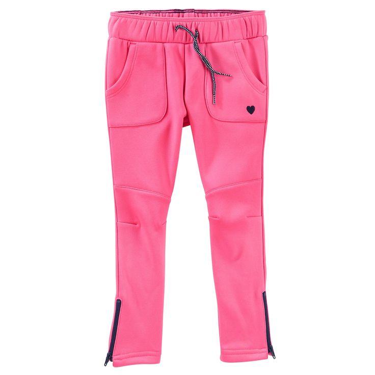 Girls 4-12 OshKosh B'gosh Tricot Track Pant, Size: 6X, Pink