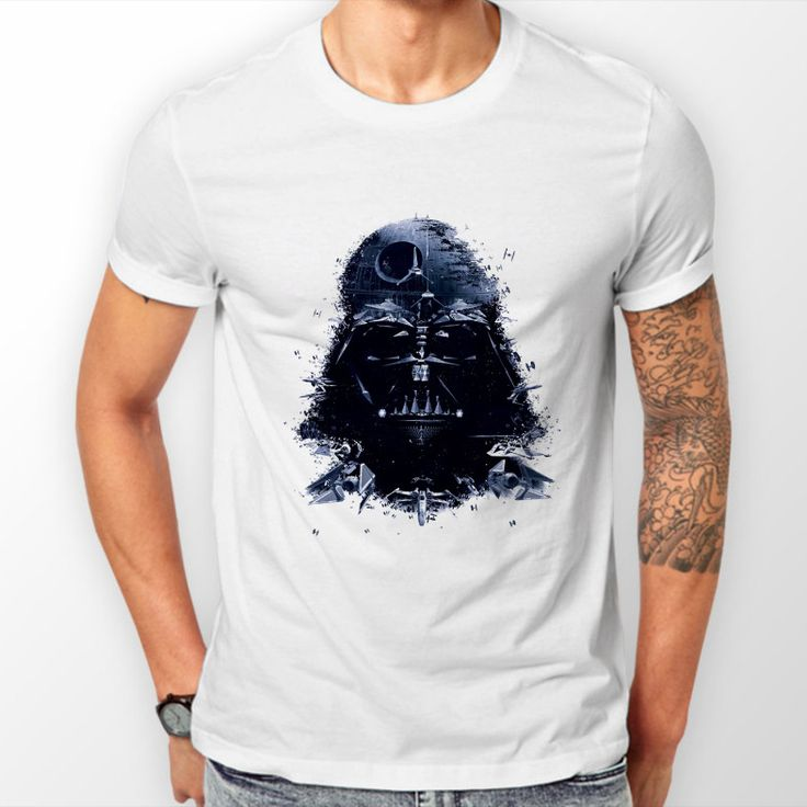 STAR WARS DARTH VADER MENS WHITE T-SHIRT PLUS SIZE SMALL - 5XL #Unbranded