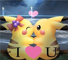Resultado de imagen para pokemon enamorados pikachu