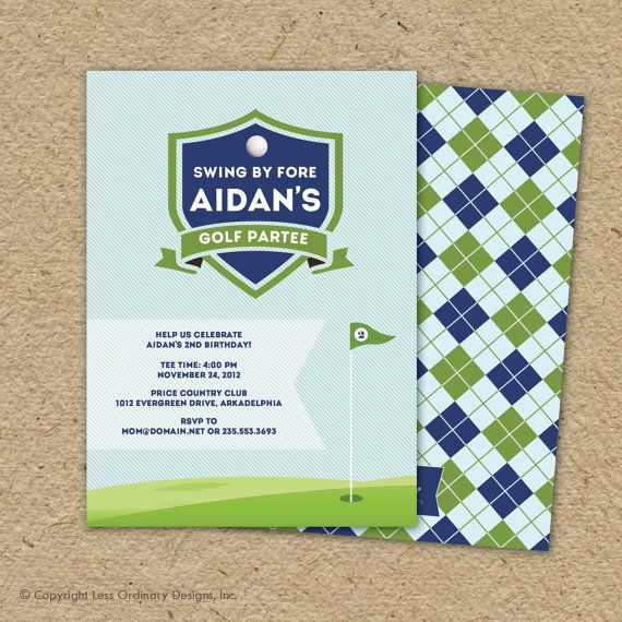 golf birthday party invitation  country club by saralukecreative, $17.00