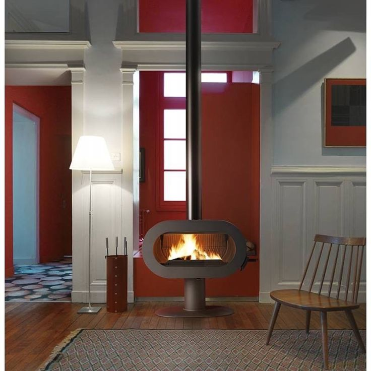 Invicta Fifty Pedestal Funky 50 S-Style Contemporary Stove Fire Wood Log Burner