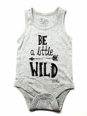 """leather bags uk Infant """"Little Wild"""" Tank Onesie 