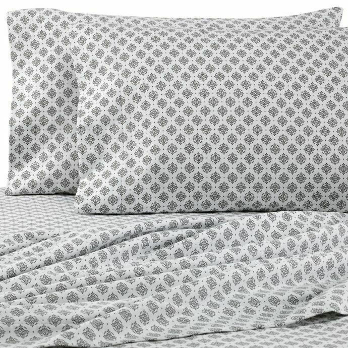 Flannel Sheet Set King Or Queen Gray White Medallion Heavyweight Cotton New Seasons In 2020 King Sheet Sets Sheet Sets California King Sheet Sets
