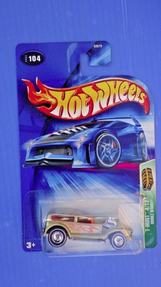 2004  Hot Wheels Regular Treasure Hunts DOUBLE DEMON Rubber Tires  #HotWheels