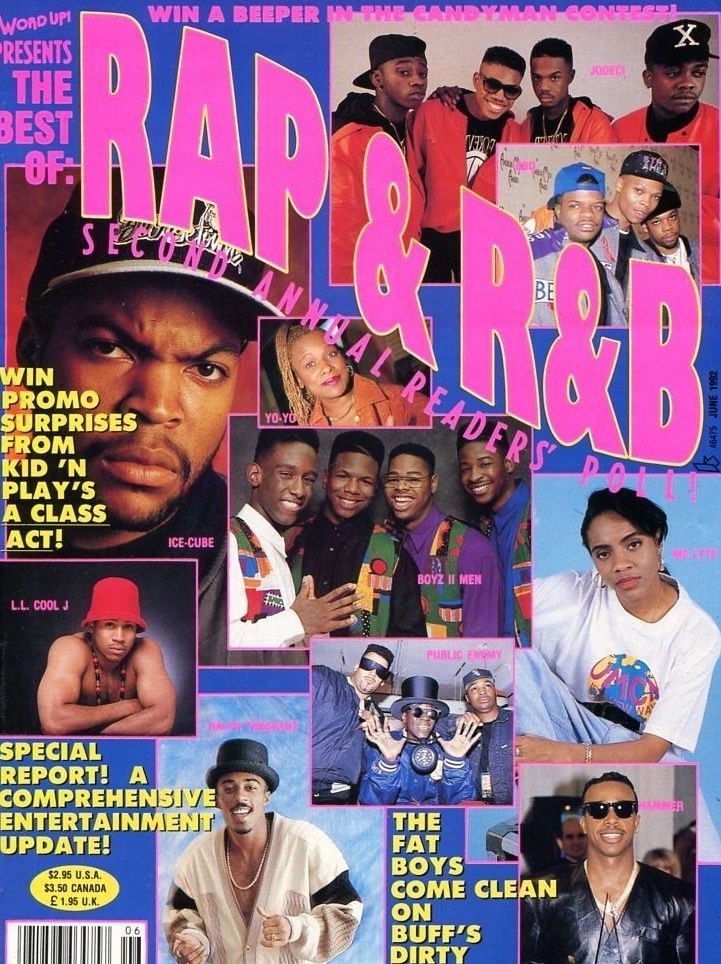 90shiphopraprnb:  Word Up Magazine (1992)
