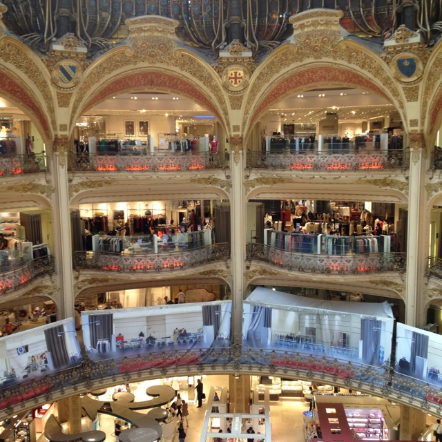 Galleries Lafayette #Paris Will never forget being a young girl peering over these balconies!