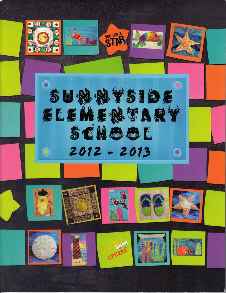 School Yearbook Cover Ideas ~ Sunnyside elementary school yearbook cover