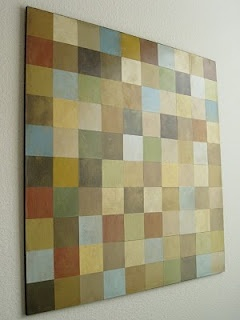 Paint Chip Wall Art. Love to try this, but not sure I have the patience!