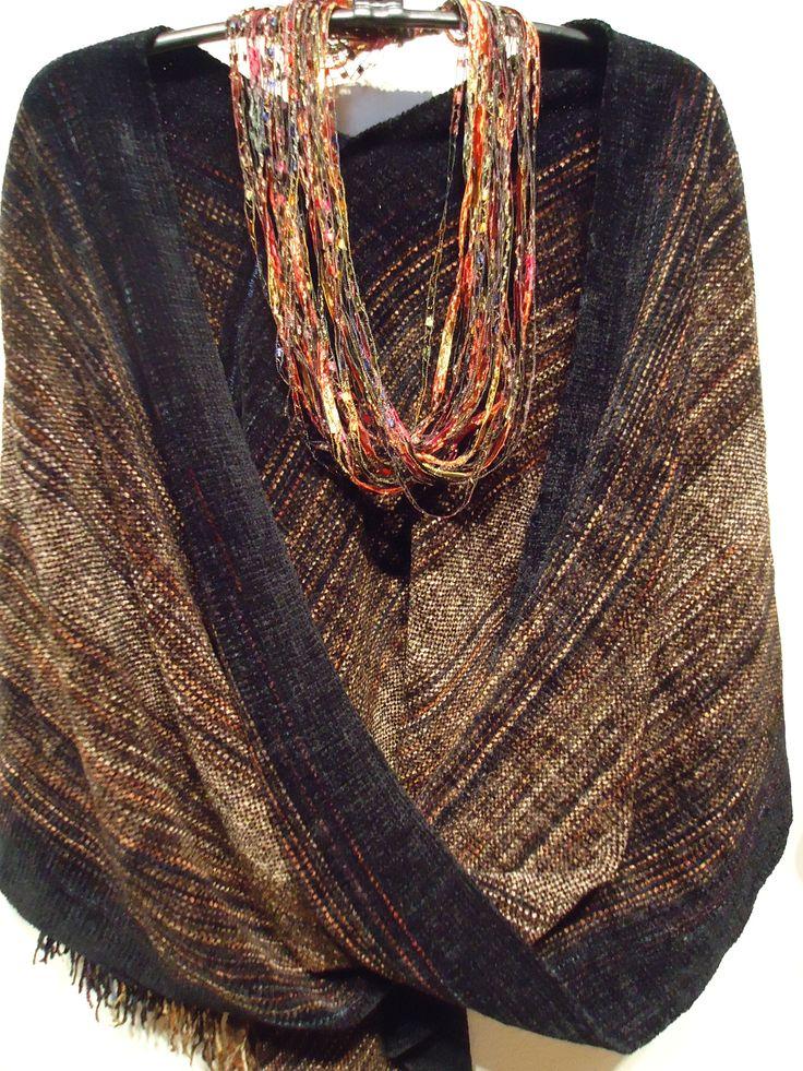 #Woollen #Scarves - Santa Fe Handwoven Designs http://www.lovelysilks.com