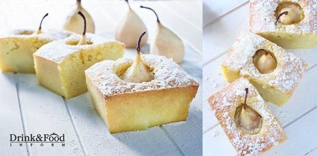 Ванильный кекс с грушами. Рецепт осеннего десерта   Drink&Food Inform. Рецепты блюд, коктейлей и кулинарные идеи