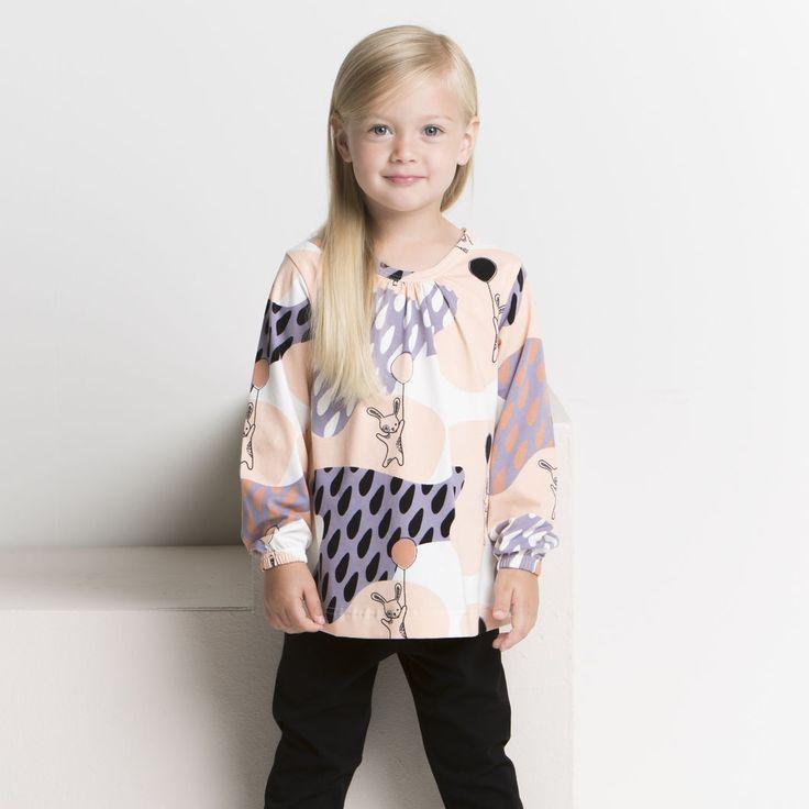 PUPU pusero, bellini | NOSH verkkokauppa | Tutustu nyt lasten syksyn 2017 mallistoon ja sen uuteen PUPU vaatteisiin. Ihastu myös tuttuihin printteihin uusissa lämpimissä sävyissä. Tilaa omat tuotteesi NOSH vaatekutsuilla, edustajalta tai verkosta >> nosh.fi (This collection is available only in Finland)
