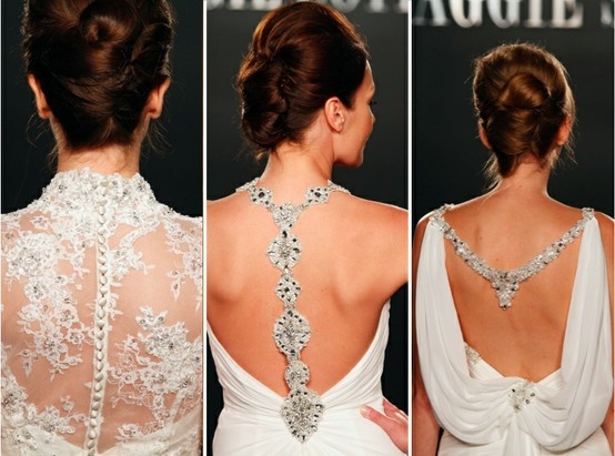 Ideas for the back of a lehnga top or sari blouse