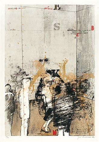 Moje malá žárlivost by Jiri Balcar, lithograph