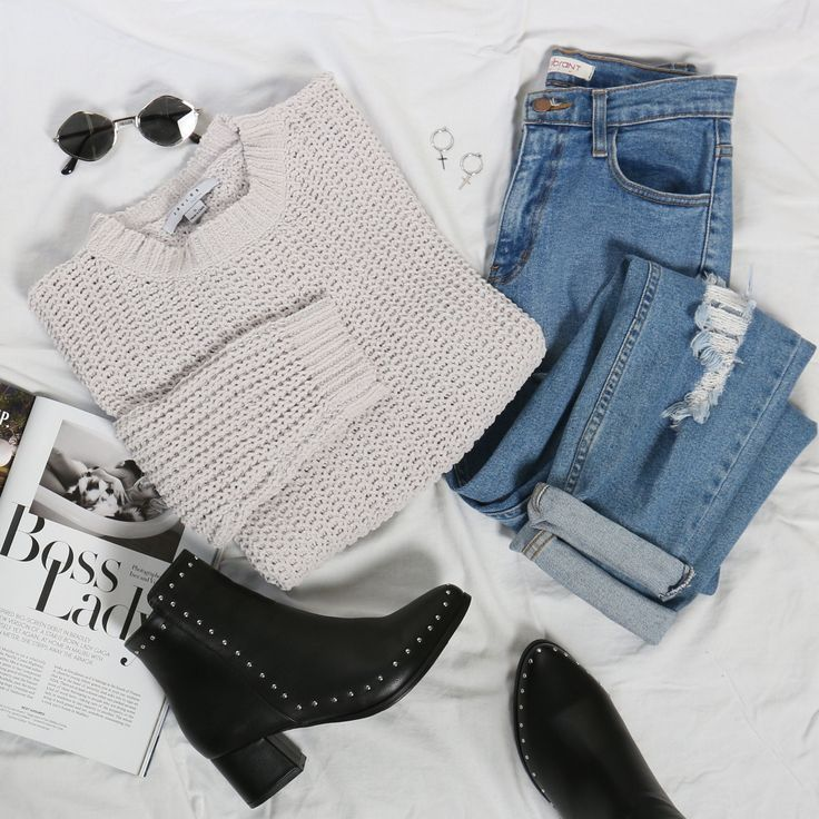 Herbstmode, Damenmode, Flat Flay, Outfit Inspo, Herbstmode Inspo, Schweiß ...