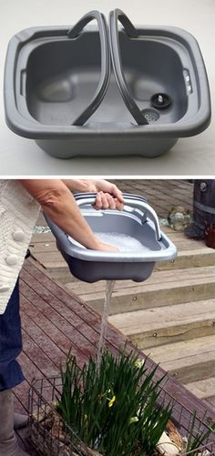 Put the drain water where you want it!! Removable Kitchen Sink, don't let the water go down the drain!