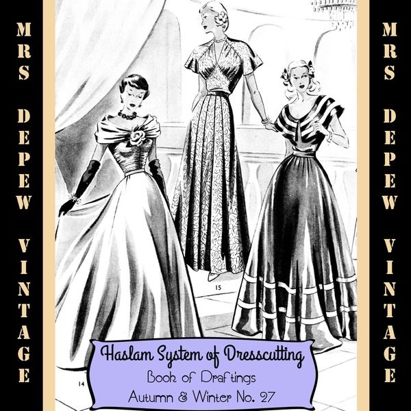 90 best e books for historical fashion sewing research images on haslam dresscutting autumn winter no 27 mrs depew vintage fandeluxe Choice Image