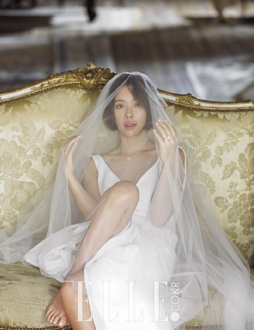"""It's not new news by now that actress Hwang Jung-eum was recently married, and while she describes her wedded bliss as being ordained by destiny, she also described herself as """"itching"""" to get back into the acting game, and has already chosen her next project, MBC's new rom-com Lucky Romance. Pictured here for Elle Korea, …"""