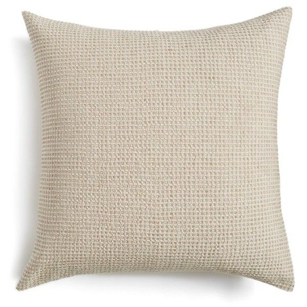 Nordstrom At Home Waffle Knit Washed Cotton & Linen Euro Sham ($49) ❤ liked on Polyvore featuring home, bed & bath, bedding, bed accessories, beige hummus, cream bedding, beige bedding, textured bedding, ivory bedding and off white bedding