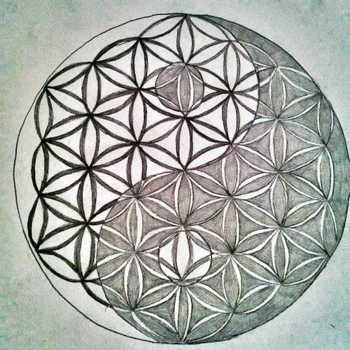 When Did Geometry Tattoos Start: Yin And Yang Flower Of Life